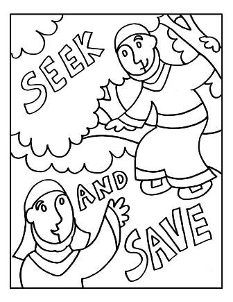 Zacchaeus Coloring Page Bible Crafts By Jenny